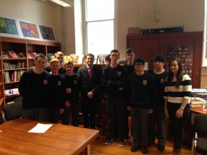 Minister Donohoe meets our 6th Yr LCA class