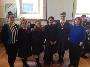 St Joseph's Debating Team with Ms. Connell & Ms. Corcoran