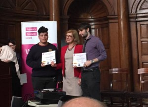 Jason Accepts Certs From Minister