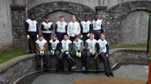 The Green Schools Committee after their National Spring Clean in St. Michan's park